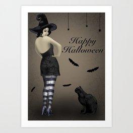 Sassy Witch Art Print