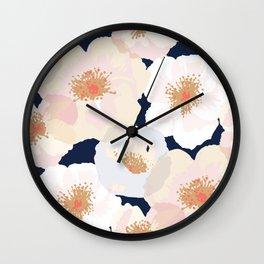 Big Poppies - Blush Wall Clock