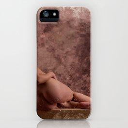 Nude woman watercolor vintage iPhone Case