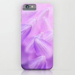 Pearl Petal Kiss   pink flower, pastel flowers, purple floral pattern, cute dahlia petals, macro iPhone Case