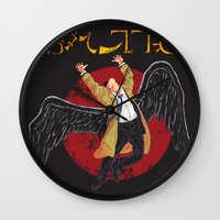 led zeppelin Wall Clocks featuring Cas Zeppelin by DiHA