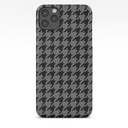 Houndstooth (Black & Grey Pattern) iPhone Case