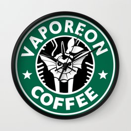 S T A R B U C K S; Vaporeon Coffee Wall Clock