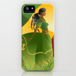 african rastafarian girl iPhone Case