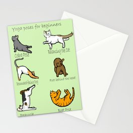 yoga poses Stationery Cards