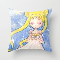 serenity Throw Pillows featuring Serenity by Lilolilosa
