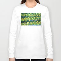 green pattern Long Sleeve T-shirts featuring Green pattern by Nato Gomes