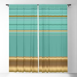 sea and sand minimal striped pattern Blackout Curtain