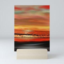 Twilight Glow Seascape Mini Art Print