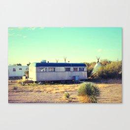 Tepee Trailer Canvas Print