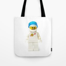 White astronaut Minifig with a beard and his visor up Tote Bag