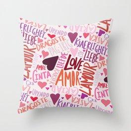 Love Languages Throw Pillow