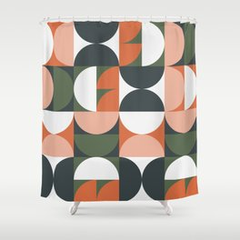 Mid Century Geometric 16 Shower Curtain