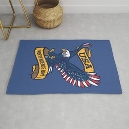 USA Independence Day July 4th Rug