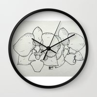 plain Wall Clocks featuring Plain Orchid by Razias