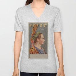 Vintage Julius Caesar Illustration (1888) Unisex V-Neck