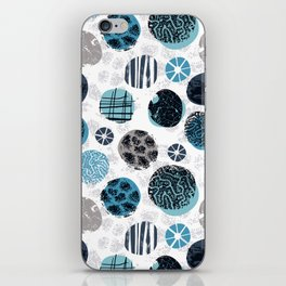 Blue Pebbles iPhone Skin