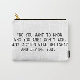 Thomas Jefferson quote Carry-All Pouch
