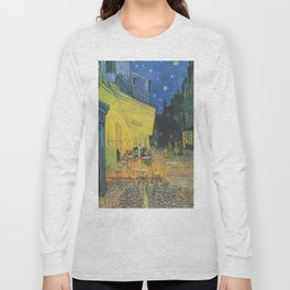 Cafe Terrace at Night by Vincent van Gogh Long Sleeve T-shirt