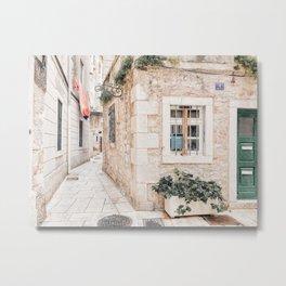 City Of Split Photo | Croatia Photography | Small Street In Split Metal Print