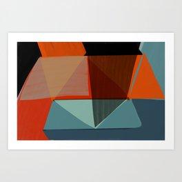Orange Diamonds Art Print