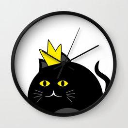 Little princess cat #society6 #decor #buyart #artprint Wall Clock