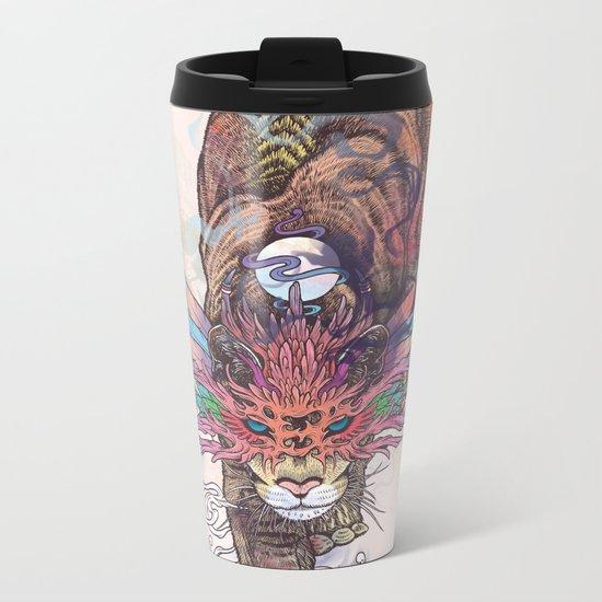Journeying Spirit (Mountain Lion) Metal Travel Mug