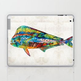 Colorful Dolphin Fish by Sharon Cummings Laptop & iPad Skin