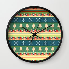 Christmas pattern II Wall Clock