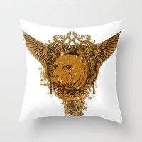 pitbull Throw Pillows featuring Pitbull by Tshirt-Factory