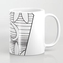 black and white geo floral Coffee Mug