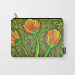 Sunny Day Tulips Carry-All Pouch
