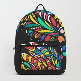 Peruvian bird Gallito de las Rocas Colorful version Backpack