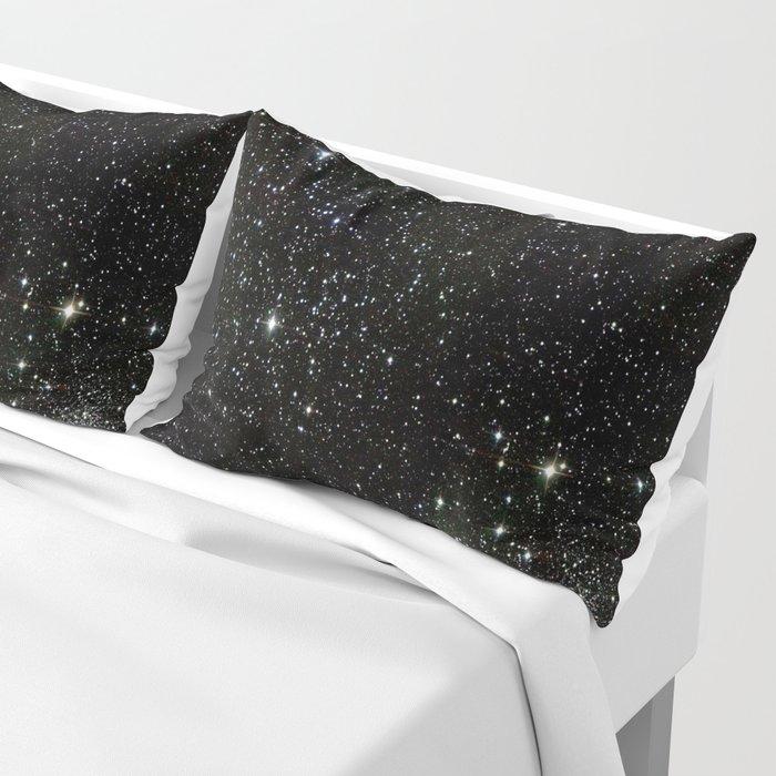 Space - Stars - Starry Night - Black - Universe - Deep Space Pillow Sham