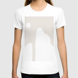 Shape Study #16 - Mountains in Taupe T-shirt