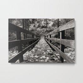 Alte Holzbrücke - Old wooden bridge Metal Print
