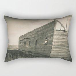 Roofless Barn, Backroads Farmstead, Valley County, MT Rectangular Pillow
