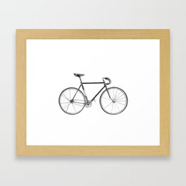 Bicycle - landscape Framed Art Print