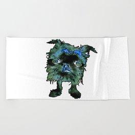 Lugga The Friendly Hairball Monster For Boos Beach Towel