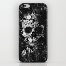 Garden Skull Dark B&W iPhone & iPod Skin