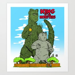 King of the Monsters Art Print