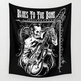 Blues to the Bone Rockabilly Wall Tapestry