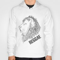 reggae Hoodies featuring Reggae Lions by Teo Designs