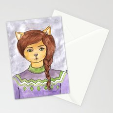 Plait Cat Stationery Cards