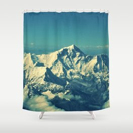 Mount Everest and surrounding mountain range Shower Curtain
