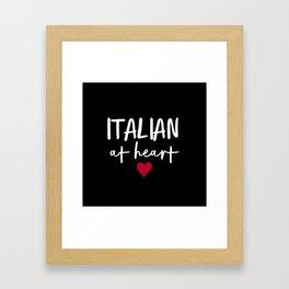 Italian at Heart (B&W) Framed Art Print