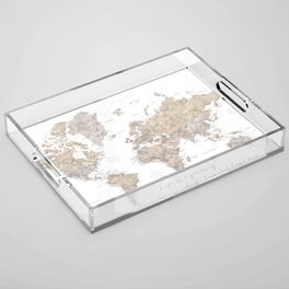 """Life is a jouney best travelled together, world map, """"Abey"""" Acrylic Tray"""