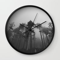 fog Wall Clocks featuring Fog by Kristine Ridley Weilert