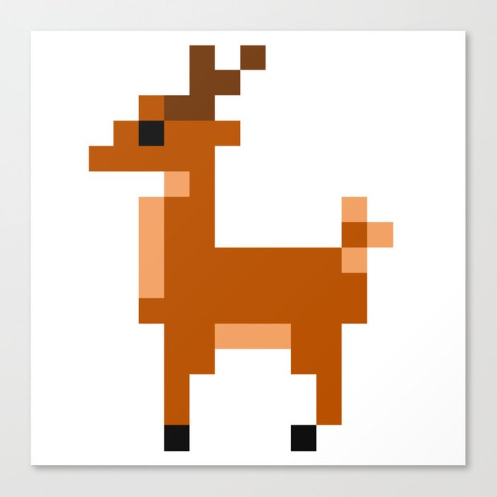 Pixel Animals Canvas Print