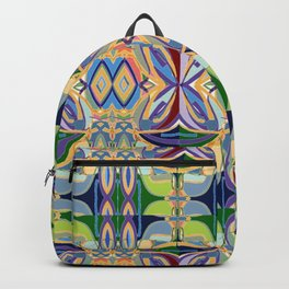 Butterfly mosaic - brightly colored pattern Backpack